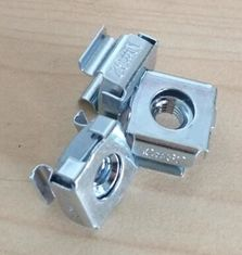 Galvanized Floating Clip Nut Cage Nuts Passivation Surface For Rack Panel