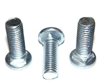 Mild Steel Round Head Bolt DIN603 Zinc Plate Surface M3x20 Size For Machinery Industry